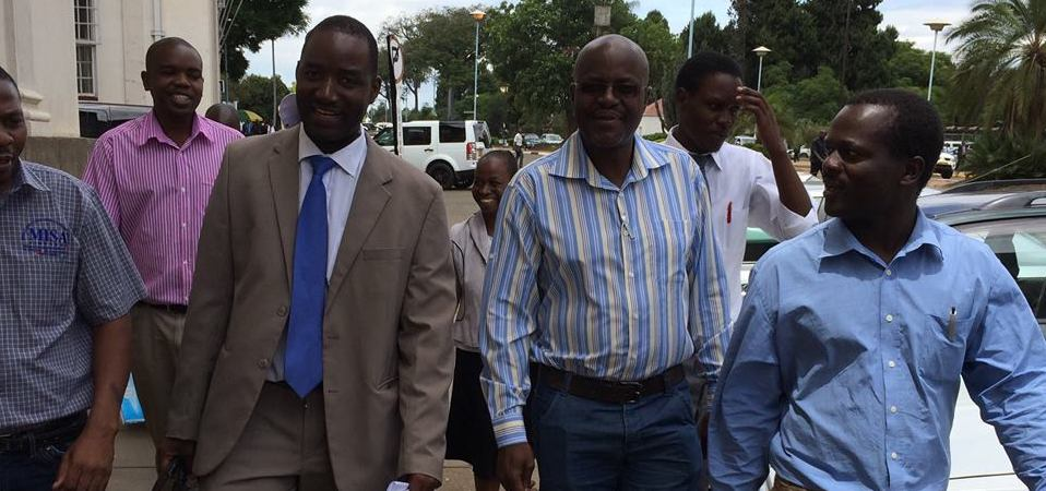 MISA Zimbabwe team after filling for the courts to strike down criminal defamation