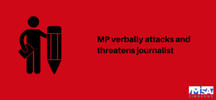 MP verbally attacks and threatens journalist