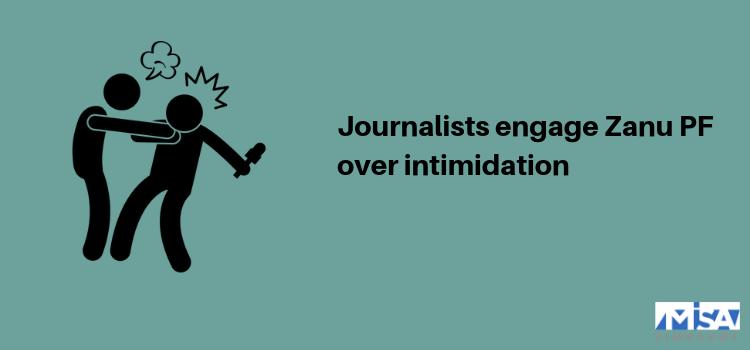 Journalists engage Zanu PF over intimidation