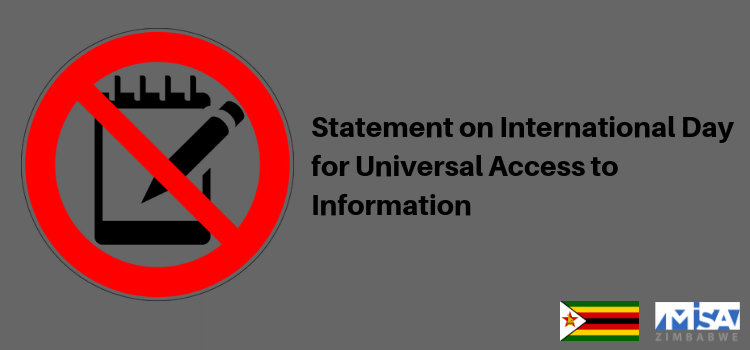 Statement on International Day for Universal Access to Information