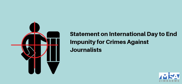 Statement on International Day to End Impunity for Crimes Against Journalists