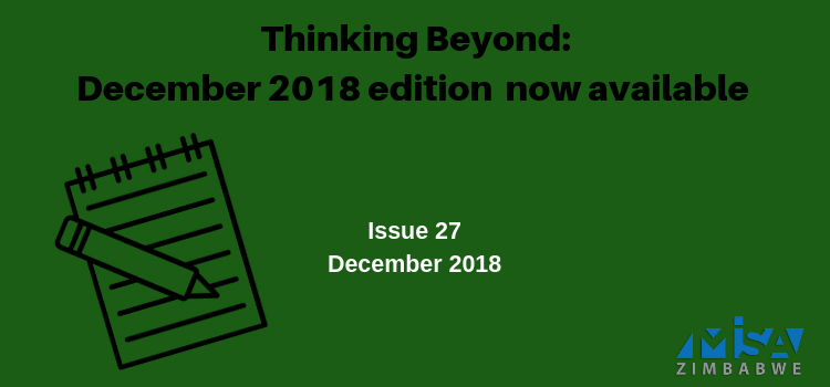 Thinking Beyond: December 2018 Edition now available
