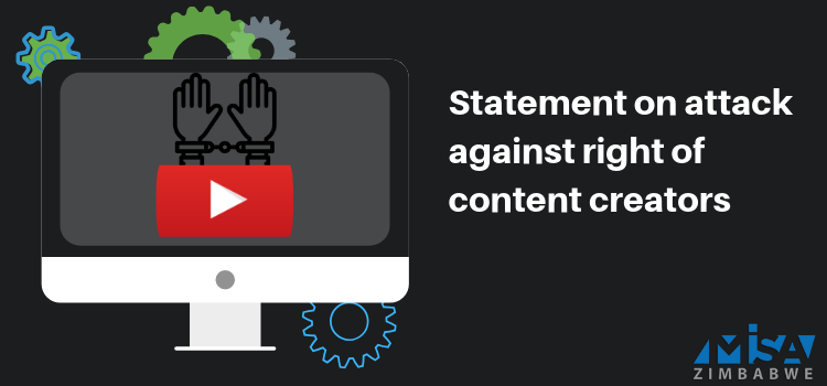 Statement on attack against rights of content creators