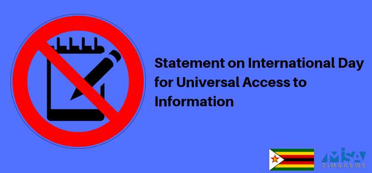 Statement on International Day for Universal Access to Information 2019