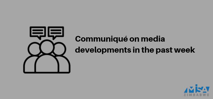 Communiqué on media developments in the past week