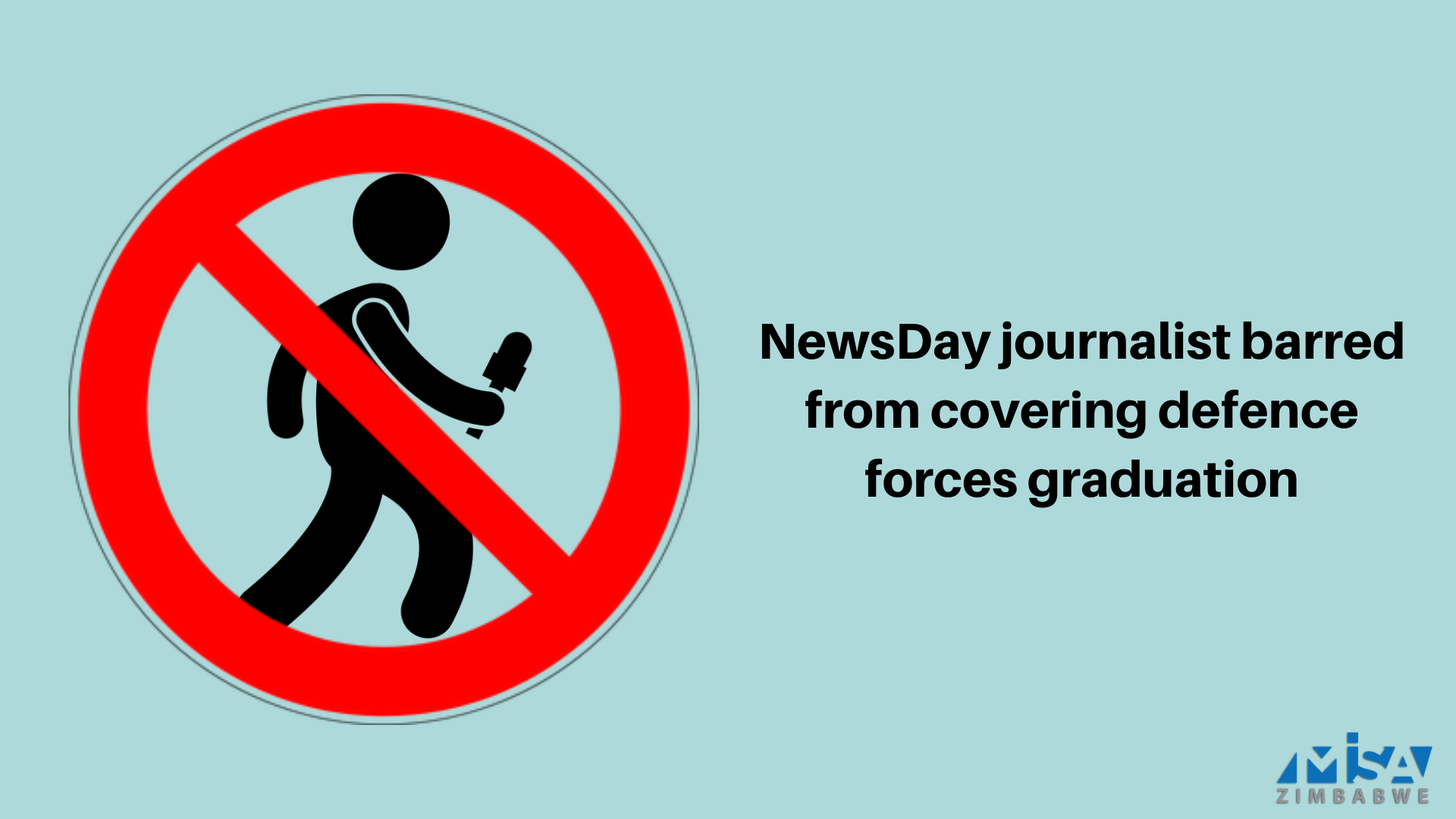 NewsDay journalist barred from covering defence forces graduation