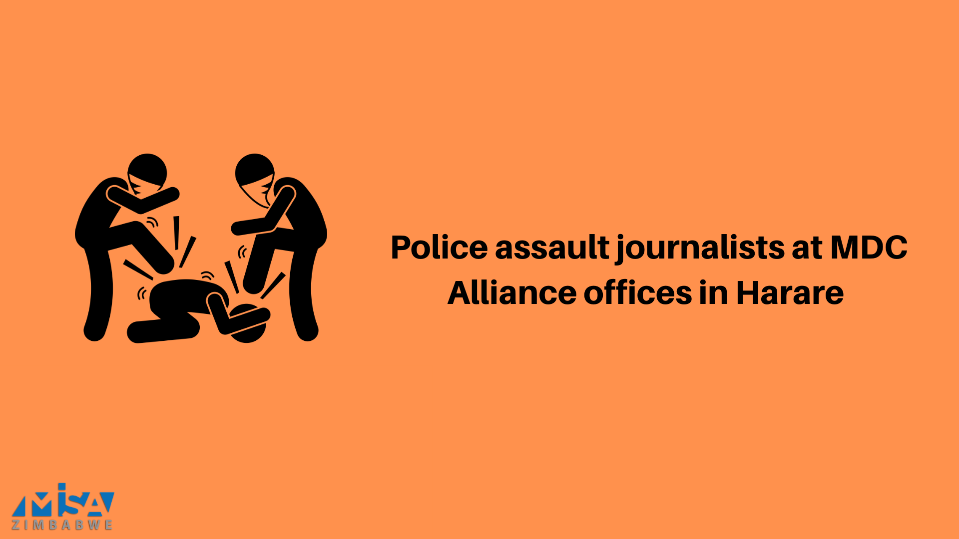 Police assault journalists at MDC Alliance HQ in Harare