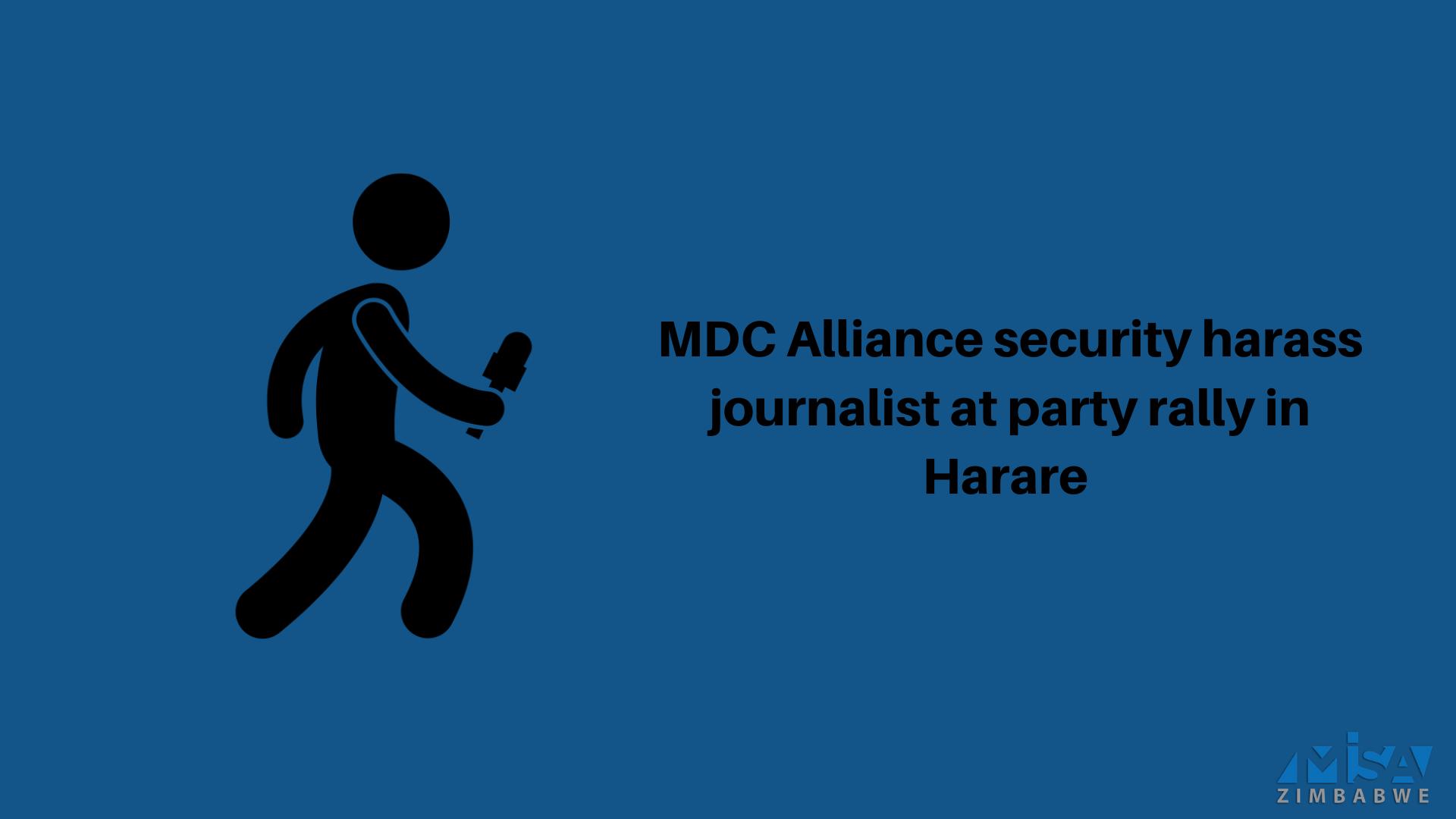 MISA Zimbabwe condemns harassment of journalist