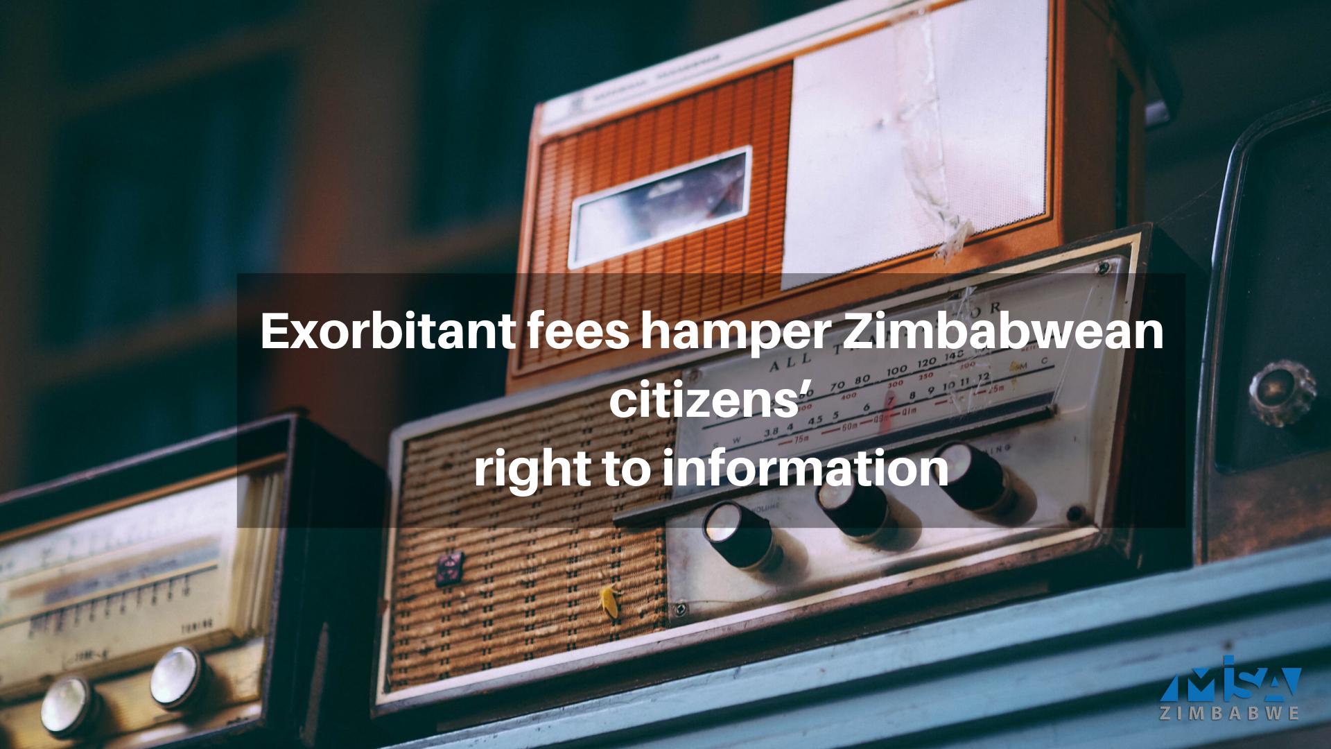 Exorbitant fees hamper Zimbabwean citizens' right to information