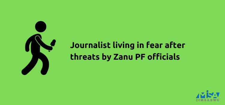Journalist, Hopewell Chin'ono, living in fear