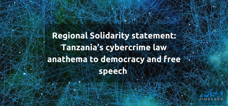 Tanzania's cybercrime law anathema to democracy and free speech