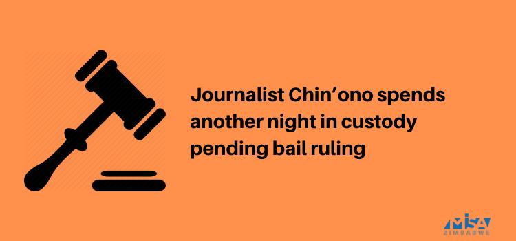 Hopewell Chin'ono, custody. media violation, Zimbabwe