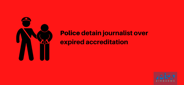 Sibindi, journalist, detained, Zimbabwe, media violation