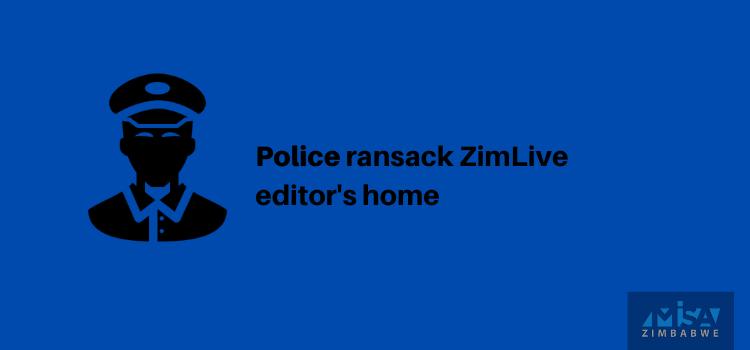 Mduduzi Mathuthu, police raid, Zimbabwe, media violation