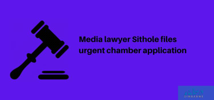 Media lawyer Sithole files urgent chamber application