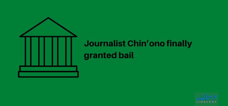 Chin'ono, bail, media violation