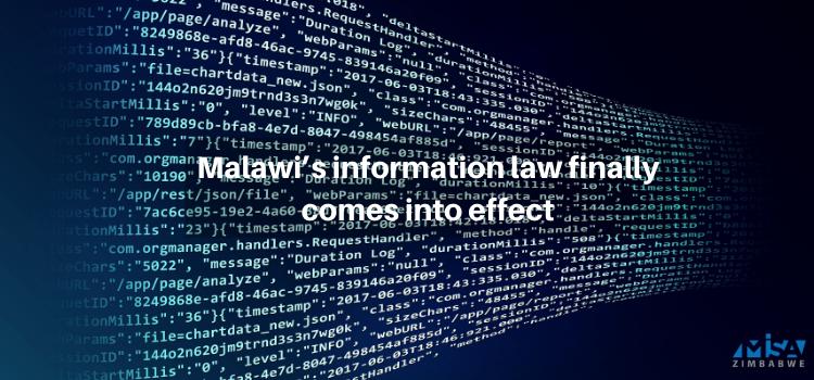 Malawi, information access, media laws