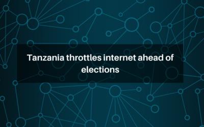 Tanzania throttles internet ahead of elections