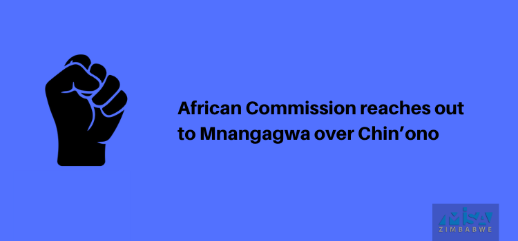 African Commission reaches out to Mnangagwa over Chin'ono