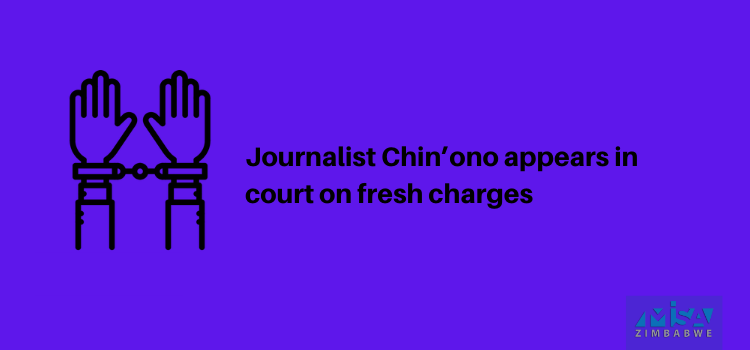 Journalist Chin'ono appears in court on fresh charges