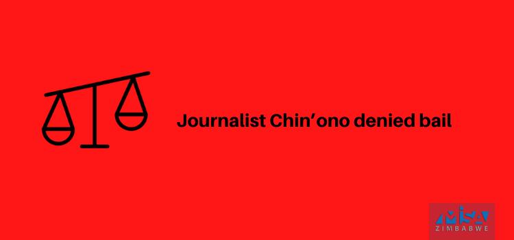 Journalist Chin'ono denied bail