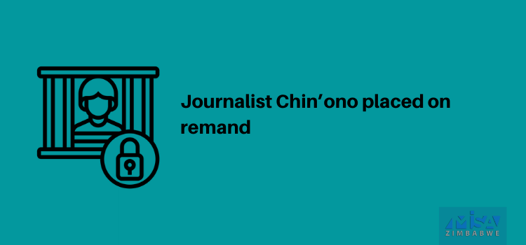 Journalist Chin'ono placed on remand