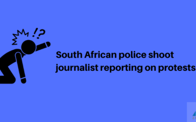 South African police shoot journalist reporting on protests