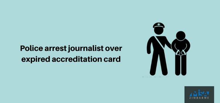 Police arrest journalist over expired accreditation card