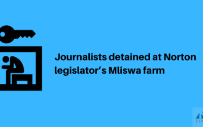 Journalists detained at Norton legislator Mliswa's farm