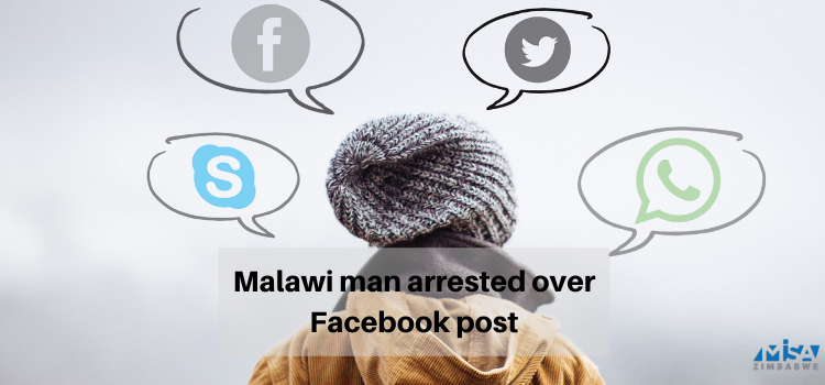 Malawi man arrested over Facebook post