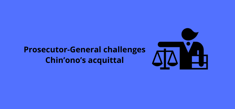 Prosecutor-General challenges Chin'ono's acquittal