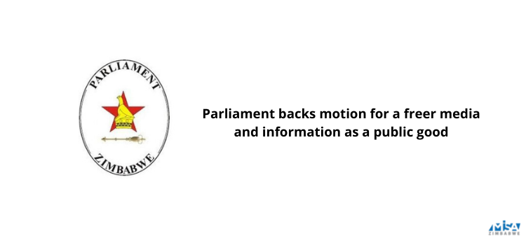 Parliament backs motion for a freer media and information as a public good